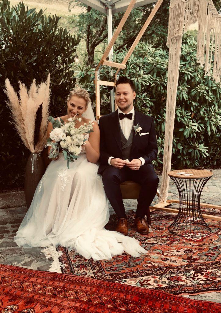 Freie Trauung Boho Wedding Vintage Pampasgras Traubogen
