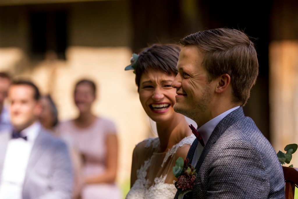 Freie trauung Brautpaar emotional