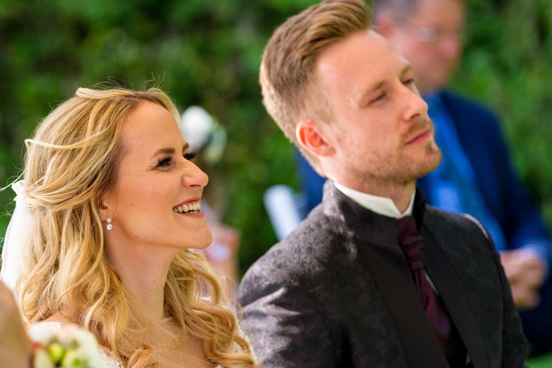 Christin & Marco bei ihrer Zeremonie