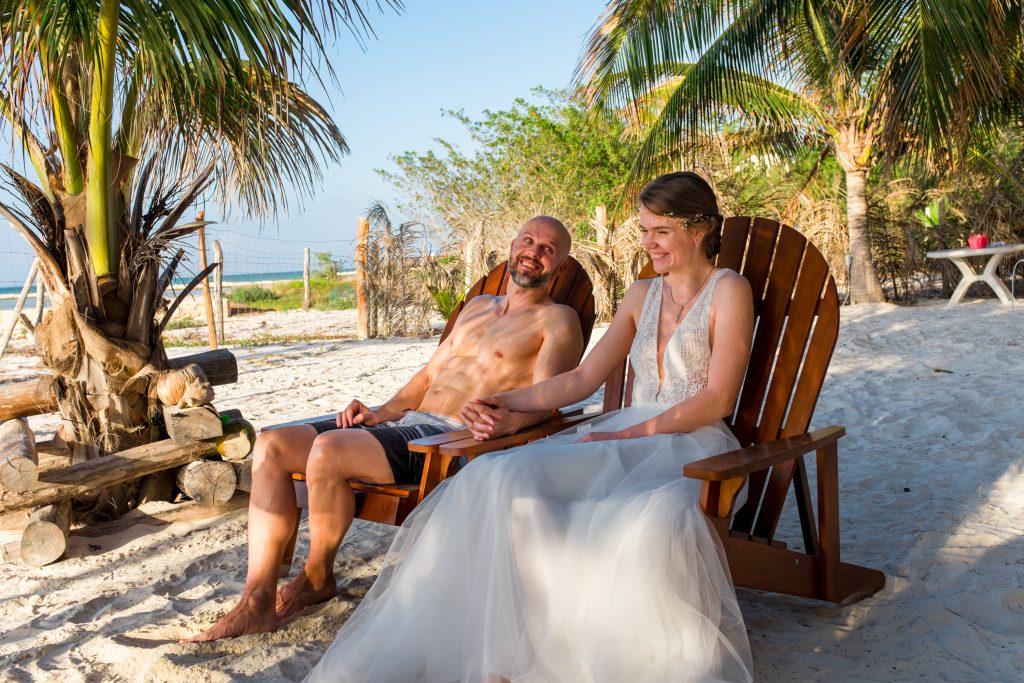 Freie Trauung Mexiko Isla Holbox Ceremonia Boda Beachwedding Strandhochzeit Boho Vintagewedding