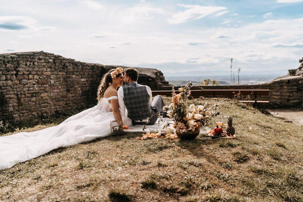 Picknick Hochzeit Burg